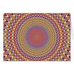Arco iris hipnótico del círculo de la ilusión ópti tarjeta