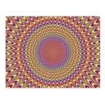 Arco iris hipnótico del círculo de la ilusión postales