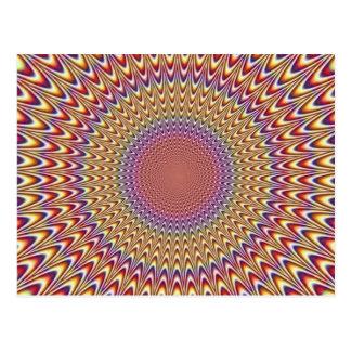 Arco iris hipnótico del círculo de la ilusión postal