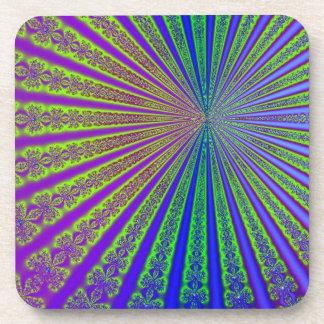 Arco iris hipnótico posavasos de bebida
