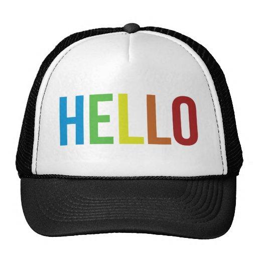 Arco iris hola gorras de camionero
