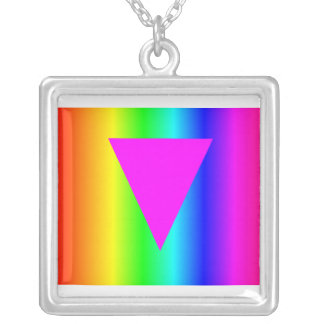 Arco iris homosexual colgante cuadrado