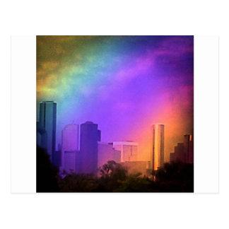 Arco iris Houston Tarjeta Postal