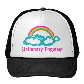 Arco iris inmóvil de la nube del ingeniero gorras de camionero