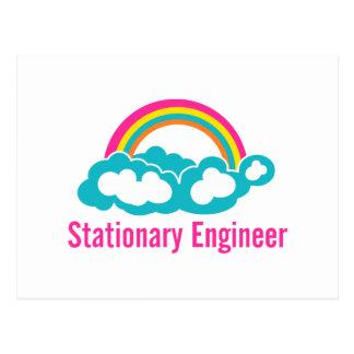 Arco iris inmóvil de la nube del ingeniero tarjetas postales