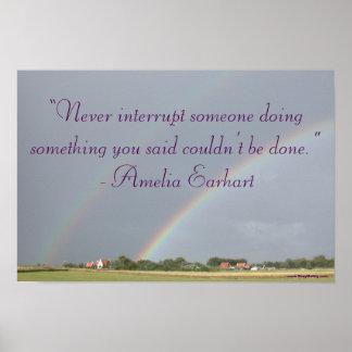 Arco iris inspirado del doble de la cita de Amelia Póster