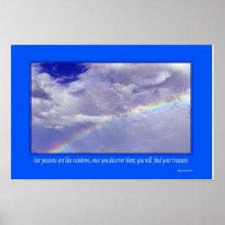 Arco iris inspirado - pequeño poster