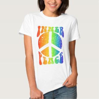 Arco iris interno de la paz polera