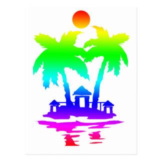 arco iris invert.png de las casas de isla de la pl postales