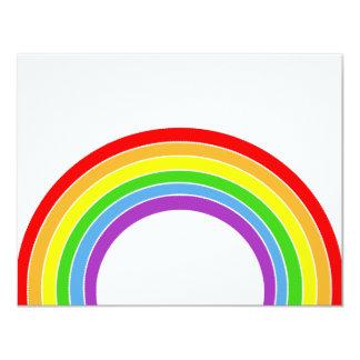 arco iris invitación 10,8 x 13,9 cm