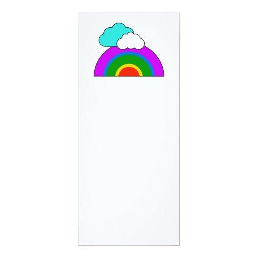 arco iris invitación 10,1 x 23,5 cm