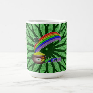 Arco iris irlandés taza básica blanca