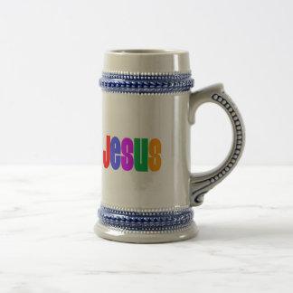 Arco iris Jesús Jarra De Cerveza