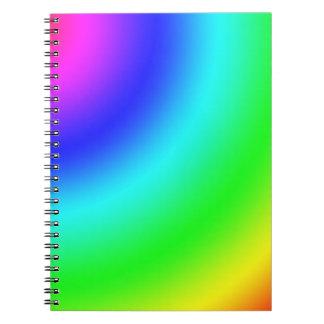Arco iris libros de apuntes con espiral