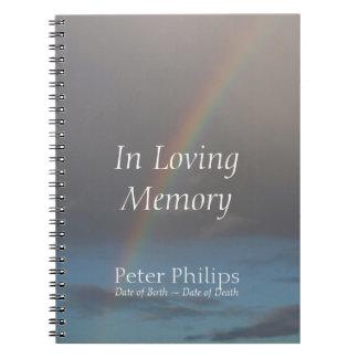 Arco iris - libros de visitas conmemorativos notebook