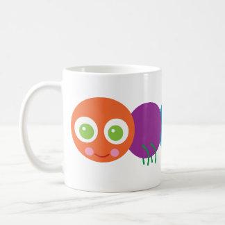Arco iris lindo Caterpillar Tazas De Café