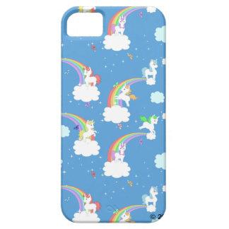 Arco iris lindos y unicornios iPhone 5 fundas