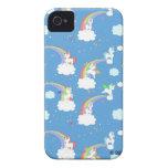Arco iris lindos y unicornios iPhone 4 cobertura