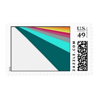 Arco iris linear estampillas