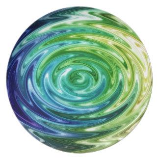 Arco iris líquido platos de comidas