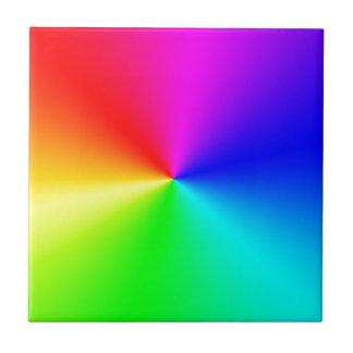 Arco iris lleno del espectro azulejo cuadrado pequeño