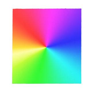 Arco iris lleno del espectro bloc de notas