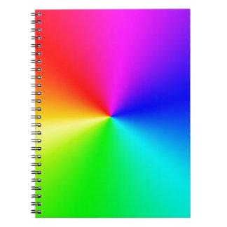 Arco iris lleno del espectro cuaderno