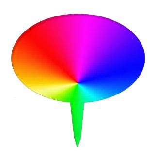 Arco iris lleno del espectro figura de tarta