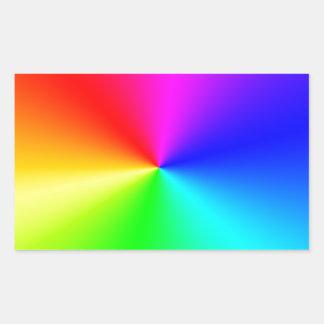 Arco iris lleno del espectro pegatina rectangular