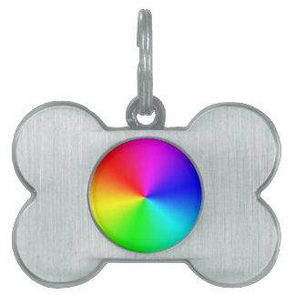 Arco iris lleno del espectro placa de mascota