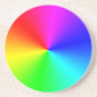 Arco iris lleno del espectro posavasos de arenisca