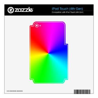 Arco iris lleno del espectro skins para iPod touch 4G