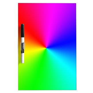 Arco iris lleno del espectro tableros blancos