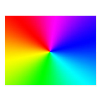 Arco iris lleno del espectro tarjeta postal