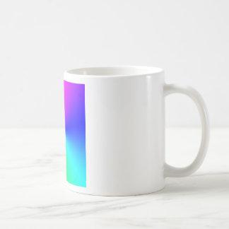 Arco iris lleno del espectro taza de café
