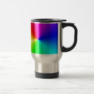 Arco iris lleno del espectro taza de viaje