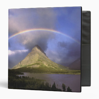 """Arco iris lleno y cielo tempestuoso sobre Grinnell Carpeta 1 1/2"""""""