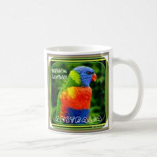 Arco iris magníficos taza
