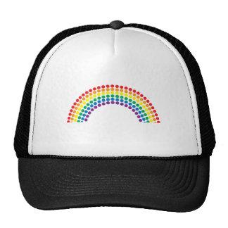 Arco iris manchado gorras de camionero