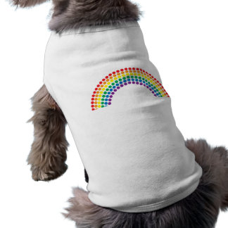 Arco iris manchado playera sin mangas para perro