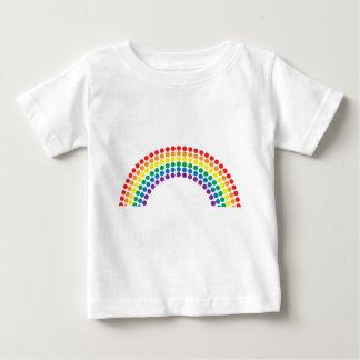 Arco iris manchado t-shirts