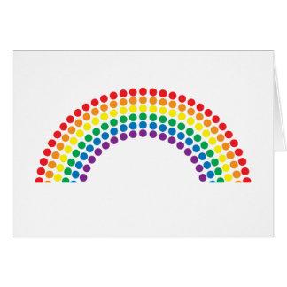 Arco iris manchado tarjeta de felicitación