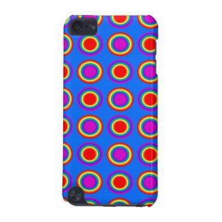 Arco iris maravilloso de círculos concéntricos funda para iPod touch 5G
