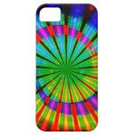 Arco iris maravilloso del teñido anudado iPhone 5 Case-Mate protector