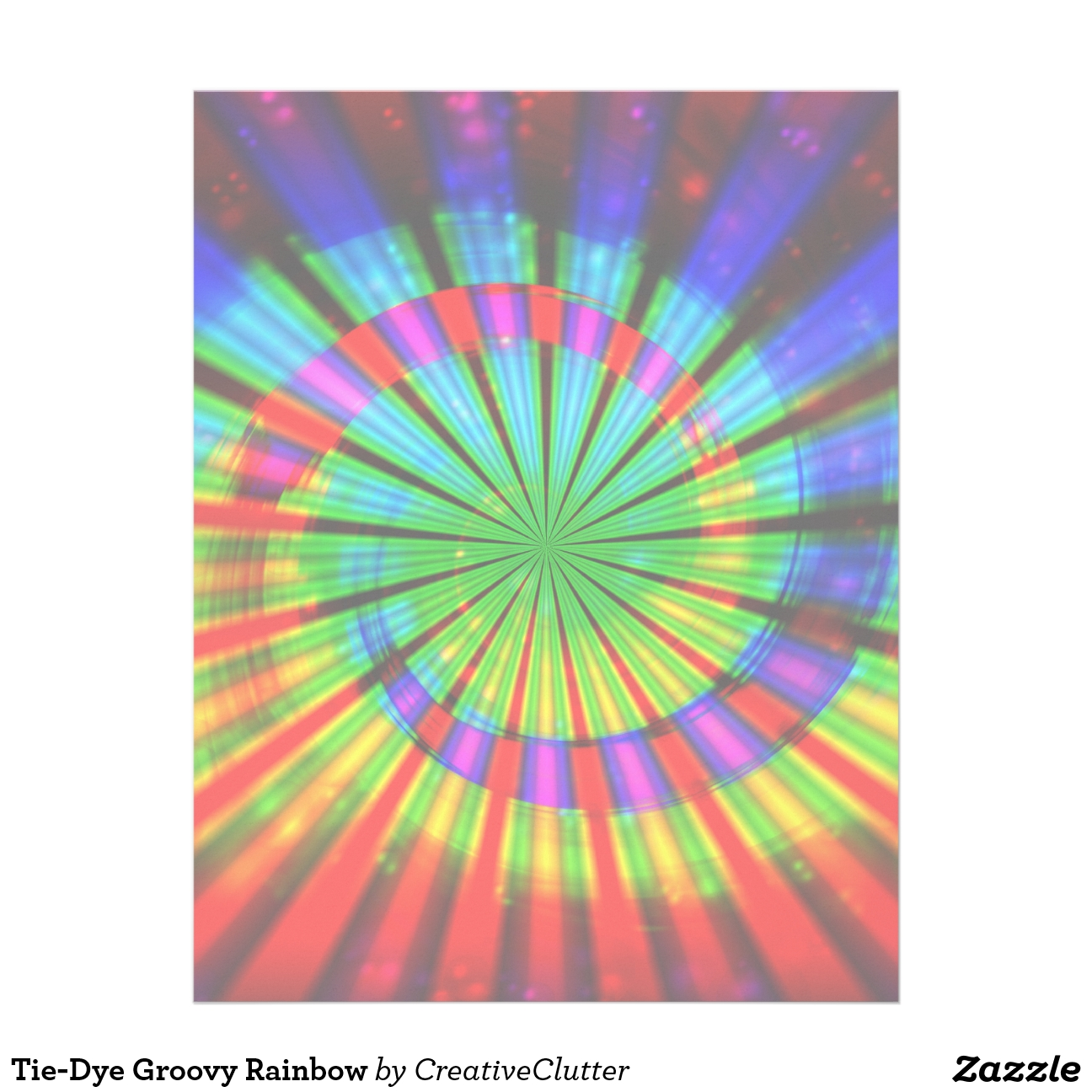 Arco iris del teñido anudado
