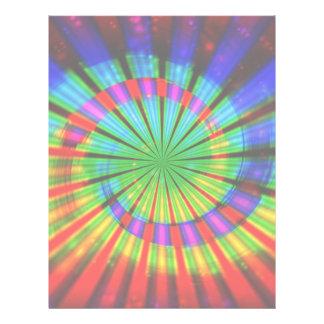 Arco iris maravilloso del teñido anudado membrete a diseño