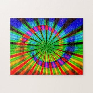 Arco iris maravilloso del teñido anudado rompecabezas