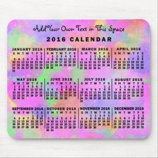 Arco iris mensual del calendario de 2016 años del tapetes de raton