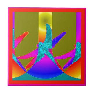 Arco iris místicos de la libélula por Sharles Azulejo Cuadrado Pequeño