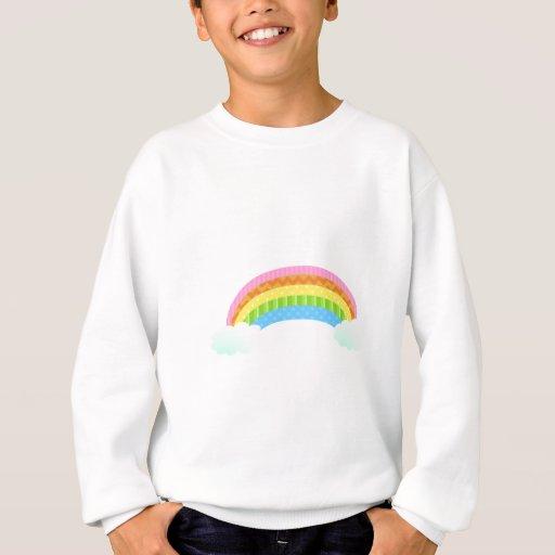 Arco iris modelado dulce camisas